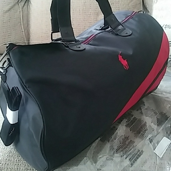 89a4e0f565 ... lauren polo jackeauthentische cb8c8 01c8c  promo code for brand new the polo  red duffle bag great a136a 9dda8